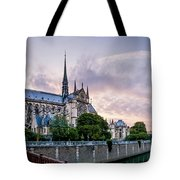 Cathedral Of Notre Dame From The Bridge - Paris France Tote Bag