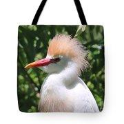 Cattle Egret Profile Tote Bag