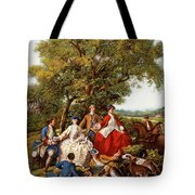 Cavalli E Segugi Tote Bag by Guido Borelli