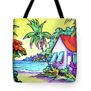 Cayman Cottage On The Bay Tote Bag