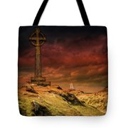 Celtic Cross Llanddwyn Island Tote Bag
