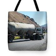 Cement Truck Turning Tote Bag