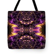 Chained Dragons Condemned  To Battle In Hells Fiery Furnace Fractal Abstract Tote Bag by Rose Santuci-Sofranko