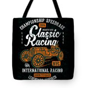 Championship Speed Race Classic Racing Tote Bag