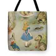 Characters From Alice In Wonderland  Tote Bag