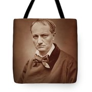 Charles Baudelaire, French Poet, Portrait Photograph  Tote Bag