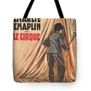 Charlie Chaplin Dans Le Cirque - Vintage Advertising Poster Tote Bag