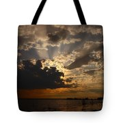 Cheboygan Lakeside Sunset Tote Bag
