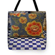 Checkerboard And Pillow Tote Bag