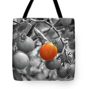 Cherry Tomatoes Partial Color Tote Bag