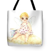 Cherub In The Sand Tote Bag