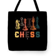 Chess Master Player Pawn Bishop Knight Queen King Graphic Tote Bag