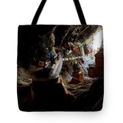 Chhungsi Cave From The Inside, Mustang Tote Bag