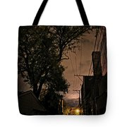 Chicago Alley At Night Tote Bag