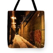 Chicago Alleyway At Night Tote Bag