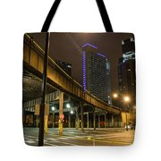 Chicago City Streets Tote Bag