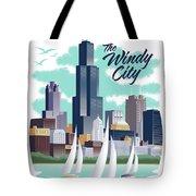 Chicago Poster - Vintage Travel Tote Bag