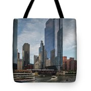 Chicago Skyline #1 Tote Bag