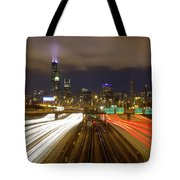 Chicago Skyline South Side View Tote Bag
