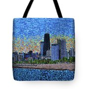 Chicago Sunset Tote Bag