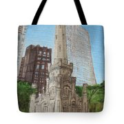 Chicago Water Tower 1c Tote Bag