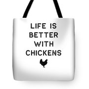 Chicken Design Life Is Better With Dark Lady Funny Gift Farm Girl Tote Bag