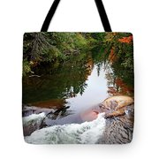Chikanishing River In Autumn Tote Bag