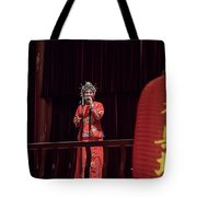 Chinese Opera Singer Onstage Tote Bag
