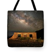 Chisos Mountain Homestead Under The Milky Way Tote Bag