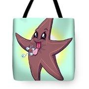 Chocolate Starfish Tote Bag