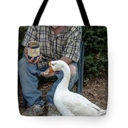 Chow Time Tote Bag by Mike Long