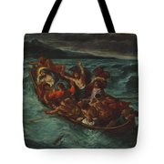 Christ Asleep During The Tempest  Tote Bag