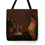 Christ Before The High Priest, 1617 Tote Bag