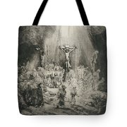 Christ Crucified Between The Two Thieves   The Three Crosses          Tote Bag