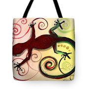 Christmas Gecko With Gold Poop Tote Bag