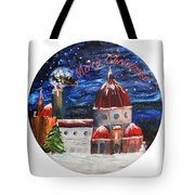 Christmas Greeting In Florence  Tote Bag