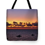 Christmas Morning Sunrise Tote Bag by Jeremy Hayden