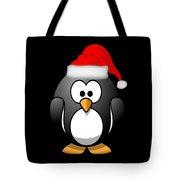 Christmas Santa Penguin Tote Bag