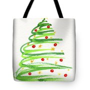 Christmas Tree With Decoration Tote Bag