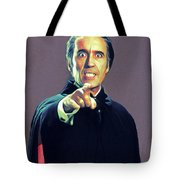 Christopher Lee As Dracula Tote Bag