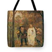 Christus Und Die J Nger Von Emmaus 1914 Tote Bag