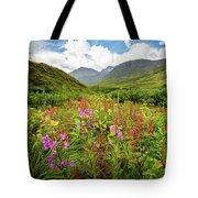 Chugach Midsummer Tote Bag by Tim Newton