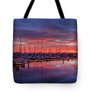Chula Vista J Street Marina Sunset Tote Bag by Sam Antonio Photography
