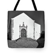 Church Of Misericordia In Monochrome Tote Bag