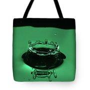 Circle Water Dance Green Tote Bag
