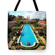 Classic Awesome J Paul Getty Architectural View Villa  Tote Bag