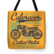 Classic Caferacer Road Legend Tote Bag