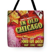 Classic Movie Poster - In Old Chicago Tote Bag