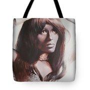 Claudia Lennear.brown Sugar.lady Grinning Soul Tote Bag
