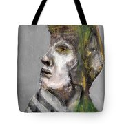 Clear Grey Sky Portrait Tote Bag